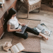 female blogger at work